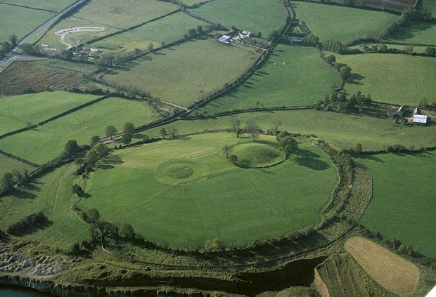 Aerial view of Navan Fort
