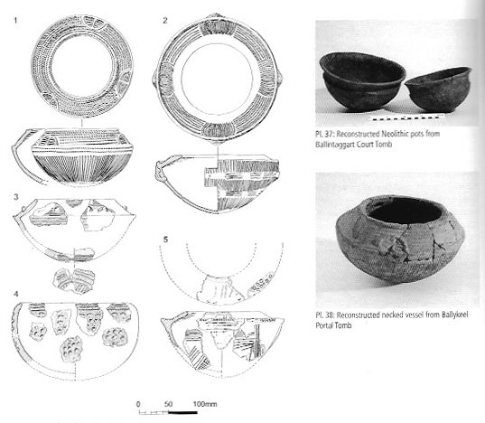 Navan Fort in the Neolithic Age:  Examples of Neolithic pottery from Co. Armagh