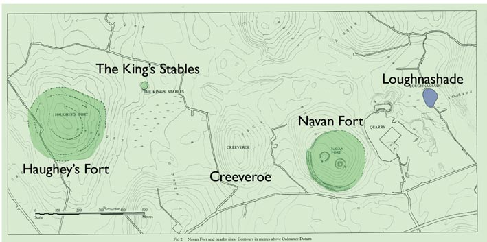 Navan Fort in the Late Bronze Age: plan of the Navan fort Complex