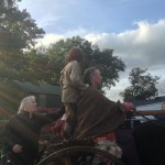 Filming Setanta's Challenge on location: Cú Chulainn rides on the chariot