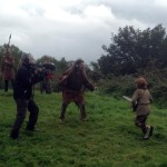 Filming Setanta's Challenge on location : Cú Chulainn runs into battle