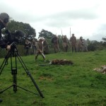 Filming Setanta's Challenge on location : Cú Chulainn finishes off his opponents