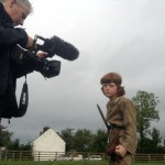 Filming Setanta's Challenge on location: Cú Chulainn gets ready to fight